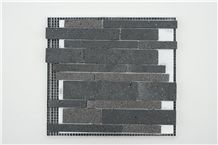 Yunnan Basalt Lava Stone Honed Mosaic Tile
