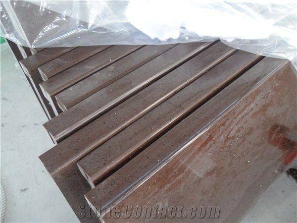 China Engineered Stone Baltic Brown Quartz Countertops