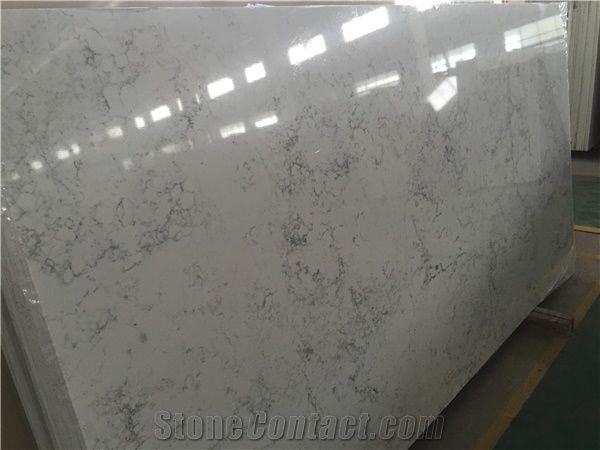 Engineered Stone Quartz Countertops Arabescato White