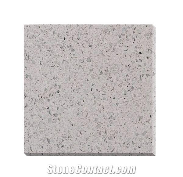 Grey Quartz Slabs Tiles Home Decorative