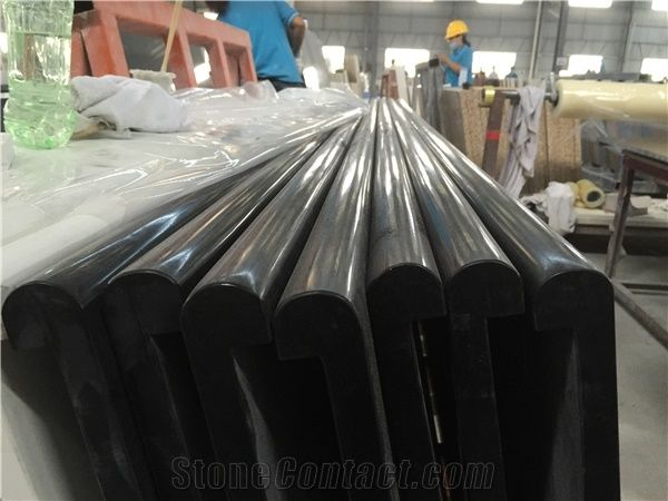 High Quality China Engineered Stone Pure Black Absolute Black