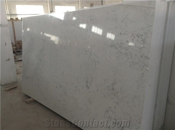New Volakas White Quartz Big Slab With Cheap Price Good