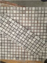 Polished Wooden White Marble Mosaic, Wooden Grey Marble Mosai,  linear strips mosaic, Mixed Marble Stone Mosaic Tile From China