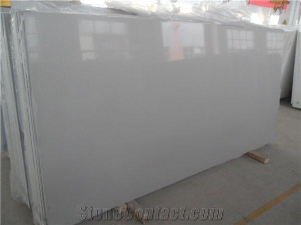 Very Popular Chinese Engineered Stone Light Pure Grey