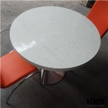 2 Seater Round Solid Surface Marble Top Mcdonalds Tables for Shipping Mall