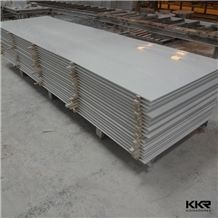 2016 Hot Sale Building Material 12mm Glacier White Artificial Stone Corian Solid Surface Sheet