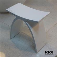 Artificial Stone Bath Accessories Shower Chair Hot Modern X Shape Solid Surface Stone Bathroom Chairs