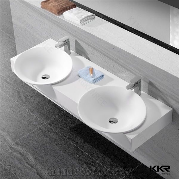 table top basin bathroom sink artificial best quality solid surface corian sink 24303