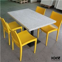 Best Quality Marble Color Small Chips Solid Surface Acrylic Stone Coffee Table and Chair