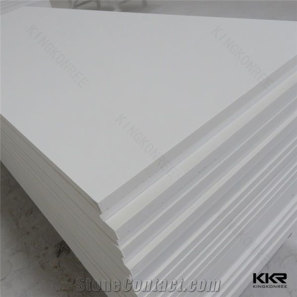 China Artificial Stone Thermoform Bending White Building Material