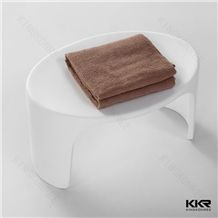 China Experience Manufacture/Exporter/Supplier High Quality Hot Sell New Design Clear Corian Solid Surface Acrylic Stone Home Furniture Bathroom Vanity Mould Made Resin Stool