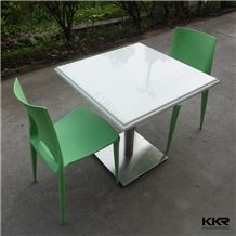 China Manufacturer Made Man Made Stone Acrylic Solid Surface Dining Table and Chair