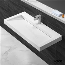 China Supplier Kingkonree Cheap Quality Factory Directly Man Made Stone Corian Solid Surface Bathroom Wash Basin Sink