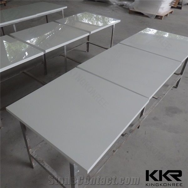 China Wholesale Glacier White Corian Acrylic Solid Surface - Corian restaurant table tops