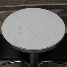 Custom Design Round Solid Surface Home Furniture Round Dining Tables and Chairs