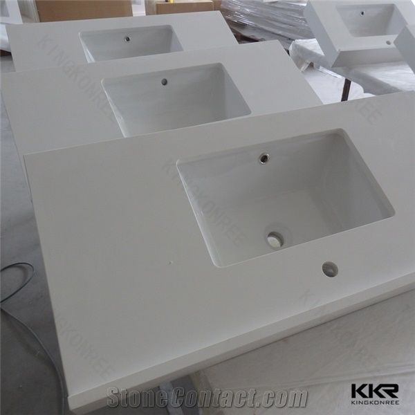 Cut To Size Marble Composite Home Depot Bathroom Engineered Stone Quartz Vanity Top