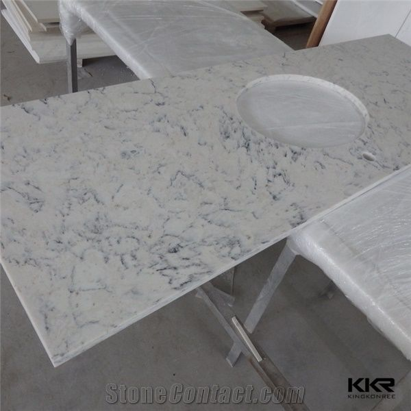 Cut-To-Size Marble Composite Home Depot Bathroom Engineered Stone
