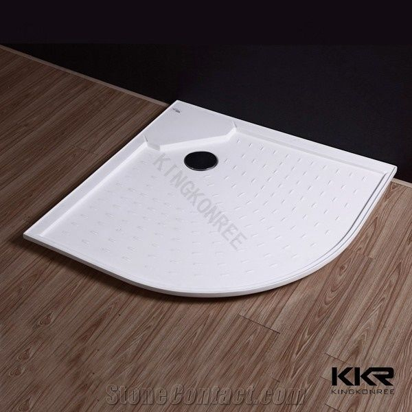 Factory Acrylic Solid Surface Deep Shower Base From China