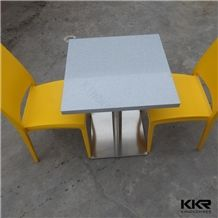 Hot Sale Quality Artificial Stone Solid Surface 2 Seater Restaurant Table and Chair