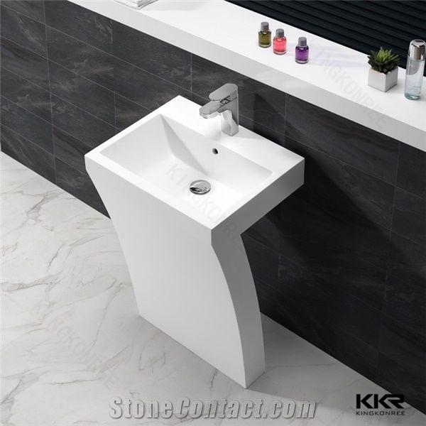 Italian Design Bathroom Artificial Stone Solid Surface Resin Stone Bathroom  Wash Basin