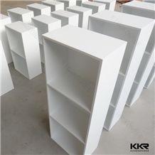 Kingkonree Engineered Stone Customized Wall Shelf Artificial Stone Shelf Solid Surface Bathroom Wall Shelf