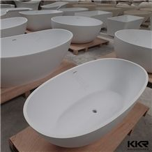 Kingkonree Single Person Luxury Freestanding Artificial Stone Solid Surface Bathtub