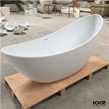 Kingkonree Stone Solid Surface Bath Freestanding Tub Matt Finished Bathtub Hot Tub