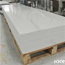 Kkr Pure White Long Solid Surface Sheet Slabs & Tiles