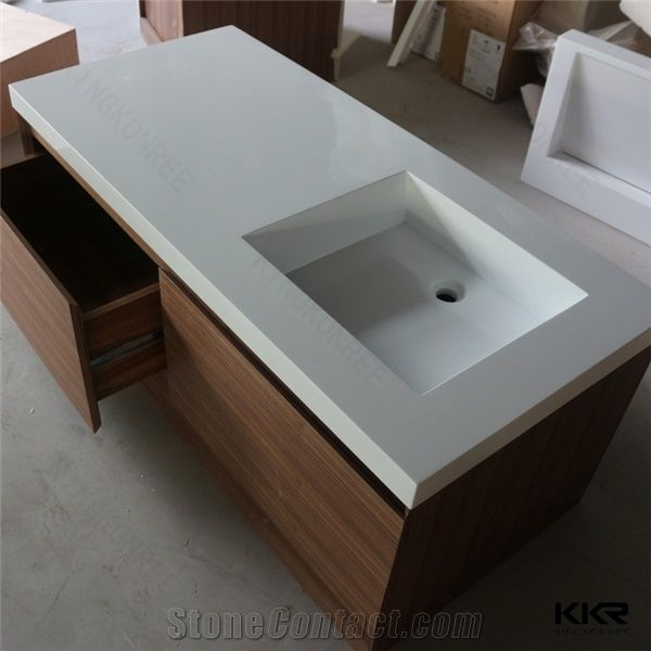 Most Popular Best Quality Solid Surface Corian Sink Wall