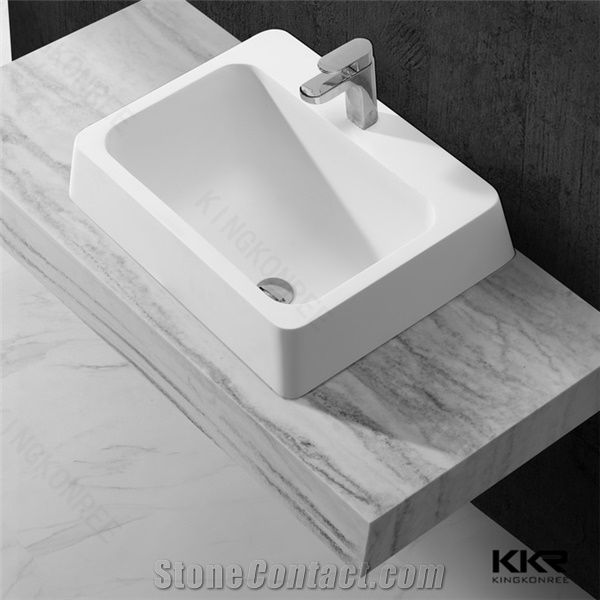 . New Fashionable Simple Design Sanitary Ware Bathroom Solid Surface