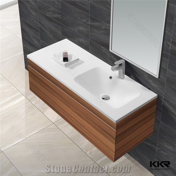 Plywood Wall Cabinet Plan: Plywood Bathroom Luxury Wall Cabinet Wash Basin From China