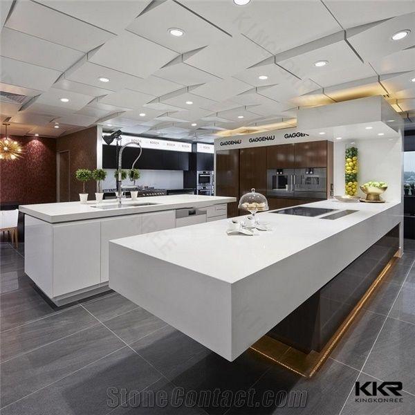 Quartz Stone Bar Top Solid Surface Kitchen Countertop ...