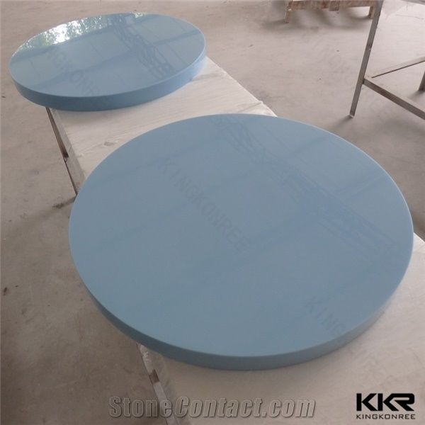 Restaurant Furniture Corian Solid Surface Table Tops Round Shape - Corian restaurant table tops