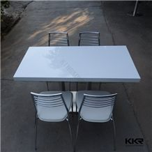 Shenzhen Factory Man Made Stone Acrylic Solid Surface White Marble Table Top