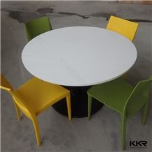 Used Home Furniture Tables,Artificial Stone Custom Design Solid Surface Round Tables for Sale