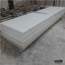 White 12mm Thick Artificial Stone Solid Surface for Kitchen Countertop