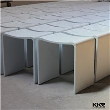 White Matt Solid Surface Shower Stool Chairs for Bathroom