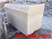 White Bubble Onyx Blocks