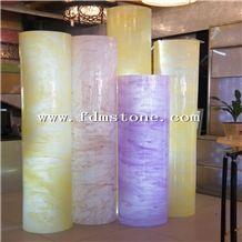 Artificial Onyx Translucent Column