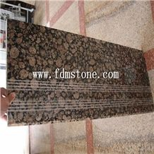 Baltic Brown Granite Stone Polished Bullnosed Step,Stair Treads,Risers,Staircase,Tiles