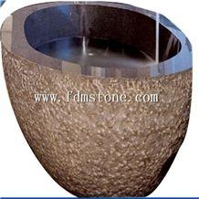 Big Size Dubai Style Black Limestone Bathtubs Surround,Bathtubs Decks,Antiqued Bath Massage Bathtub