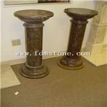 Black Marble Stone Gate Column ,Building Roman Square Roman Pillar Design
