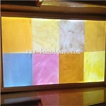 Blue Agate Artificial Translucent Onyx Glass Panel