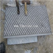 Bushhammered/Grooved/Pineappled Limestone Floor Tiles,Walling Tiles 200x200x30mm