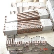 China G562 Maple Red Granite Stone Polished Flamed Brushed Bullnosed Step,Stair Treads,Risers,Staircase