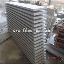 China G602 Grey Granite Stone Polished Flamed Brushed Bullnosed Step,Stair Treads,Risers,Staircase