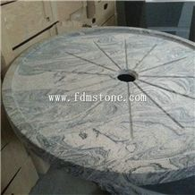 Chinese Juparana Pink Granite Polished Bathroom Round Shower Tray for Tub Surround,Solid Surface Shower Bases,Shower Pannel