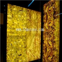 Chinese Popular Luxury on Sale Yellow Agate Semiprecious Stone Tiger Eye Tile for Hotel&Villa Project Design,Flooring and Walling Tiles