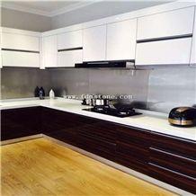 Nano Crystallized Pure White Stone Hotel Decoration,Kitchen Countertop,Work Top