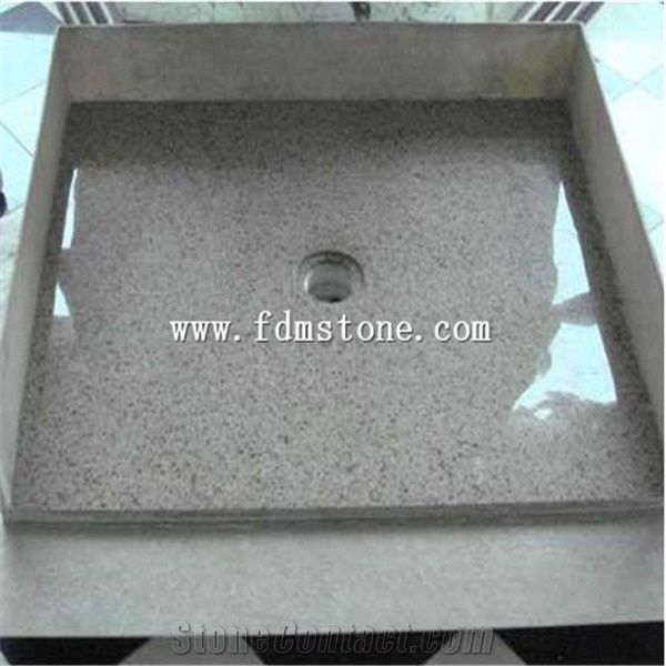Natural Stone G603 Rectangle Shower Base Tray Tiles Solid Surface Bathroom Bases